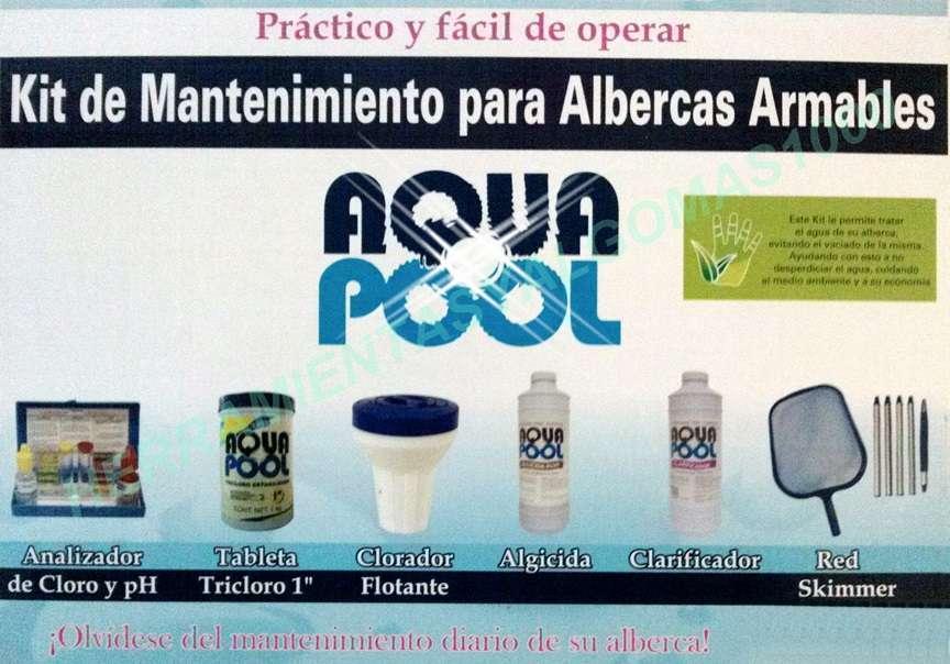 KIT DE LIMPIEZA Y MANTENIMIENTO DE ALBERCAS ARMABLES INFLABLES