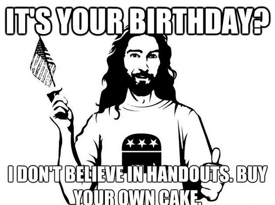 The Republican Jesus Meme Takes LOL And Makes It Political Putting A Elephant In Picture Showing Off Hypocrisy Of