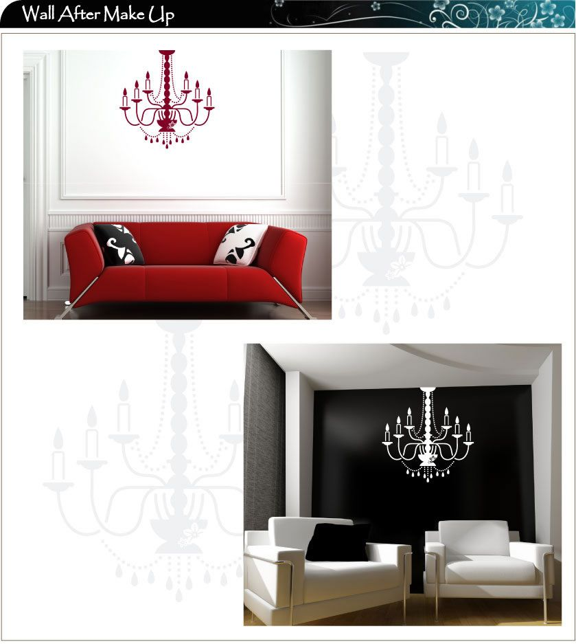 Hanging Lamp Wall Sticker: Large Chandelier Light, Lamp Wall Stickers / Wall Decal