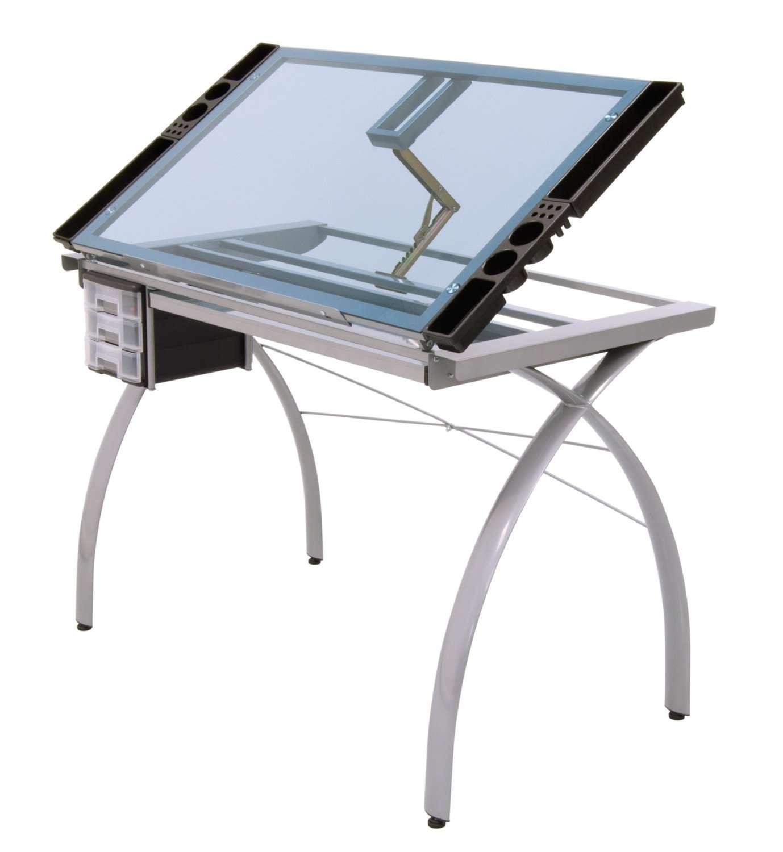 Mesa para dibujo art stico de cristal escritorio dibujar - Mesas dibujo tecnico ...