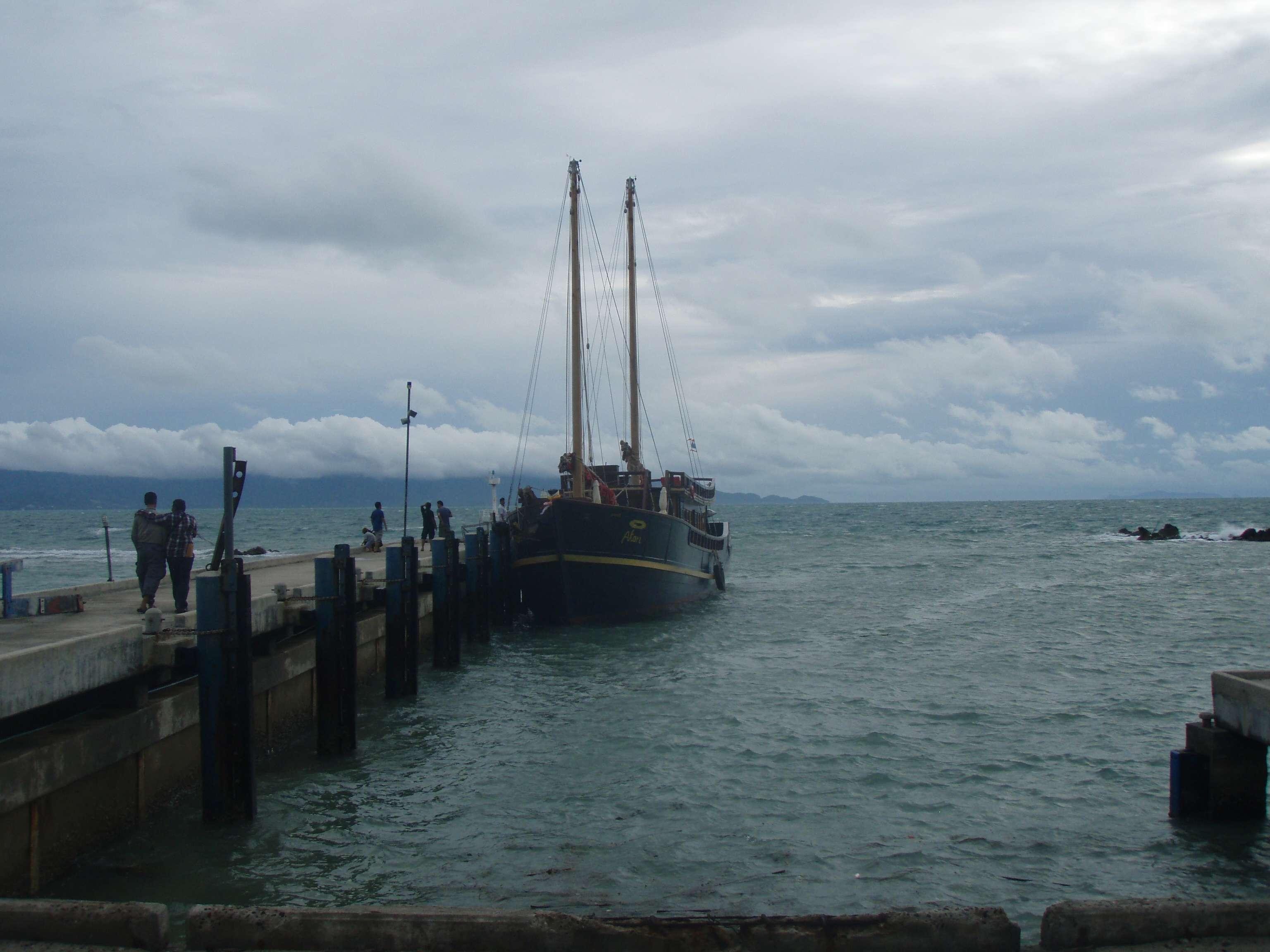 das ist der Ausblick von dem ersten Boot
